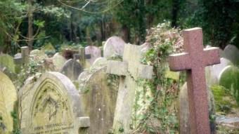 Highgate cemetery where Karl marx is buried