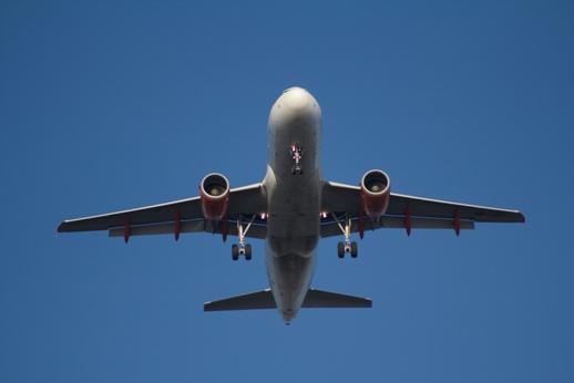 Plane mid-flight