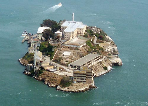 The notorious island of Alcatraz