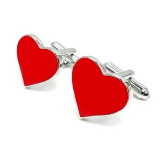 Red Hear Shaped Cufflinks