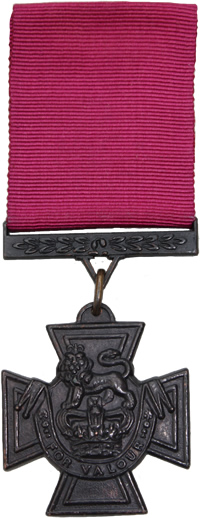 The front of the Victoria Cross.