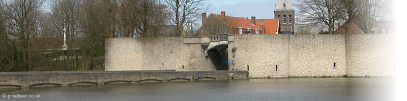 The Lille Gate or Rijselpoort in Ypres.