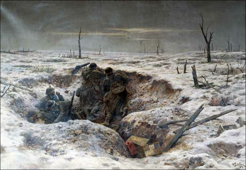 Image result for WWI Battlefield christmas eve