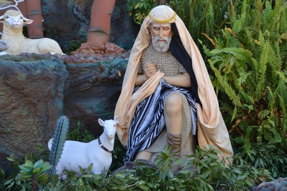 shepherd guarding lamb