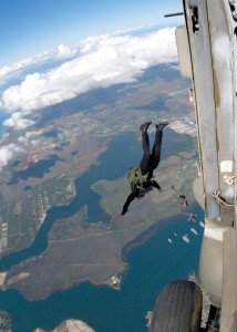 Freefall parachute Training for Navy SEALS