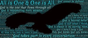 God is all that is. We are all God.