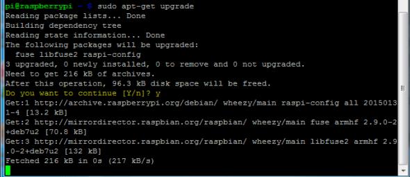apt-get upgrade