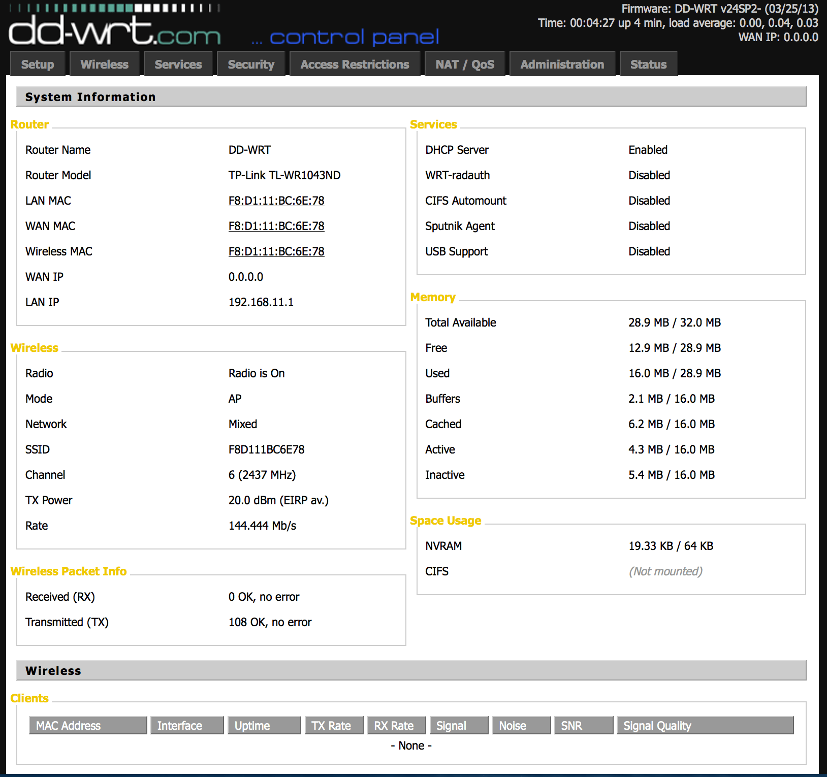 Turn a SOHO Wireless Router into a Workgroup Bridge With DD-WRT