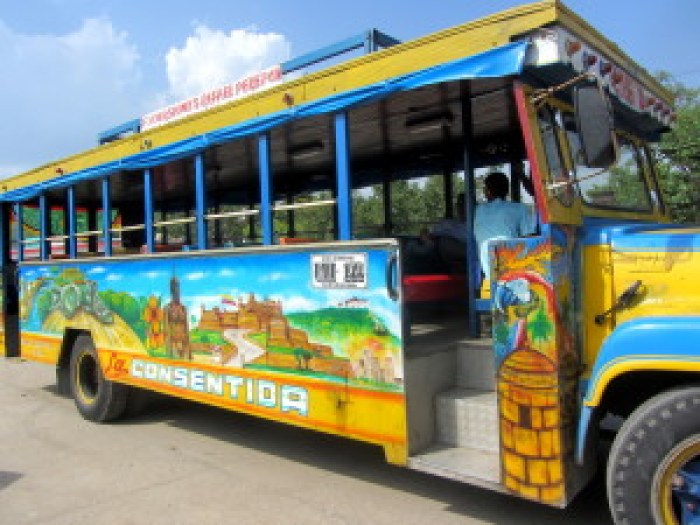 chiva bus, cartagena, colombia