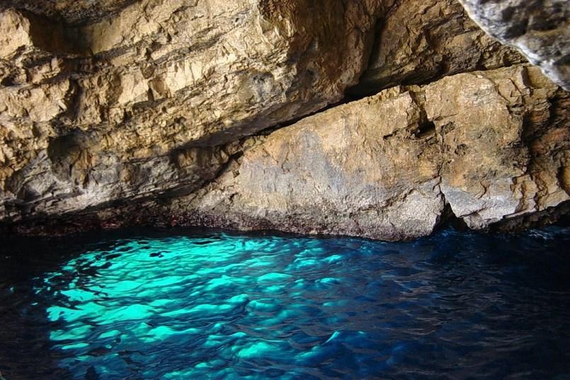 Grota Azura, Mėlyna grota, Kapris, Italija
