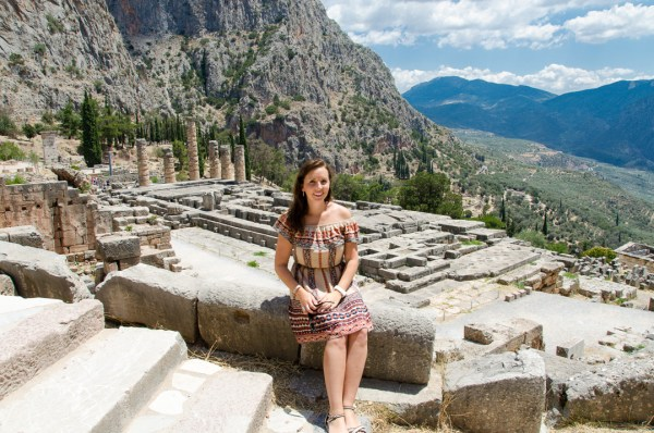 Temple to Apollo, Delphi, Delfi, Greece