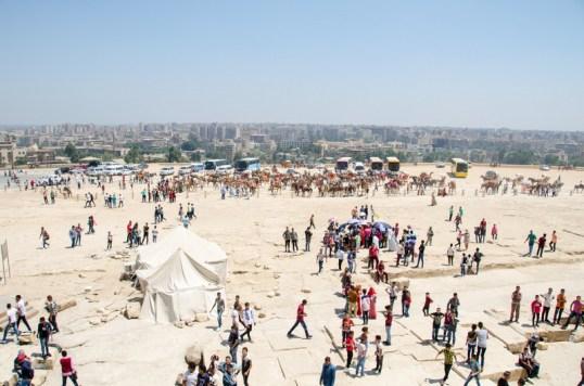 Giza Pyramids at Eid, Cairo, Egypt