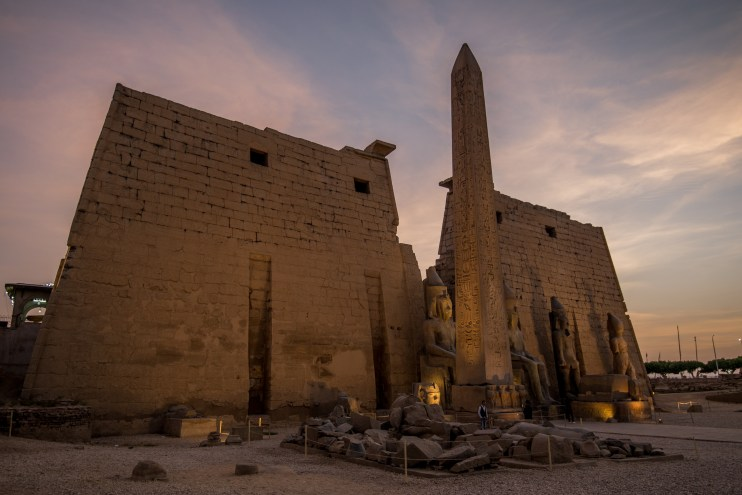 Luxor Temple, Egypt at Night