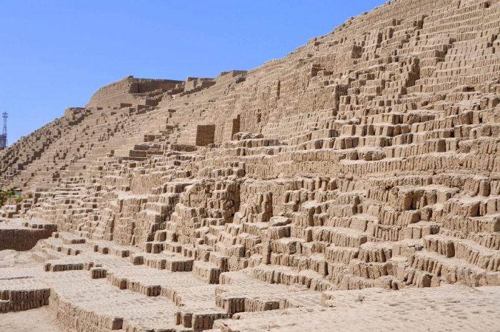 Huaca Pucllana ruins Lima Peru