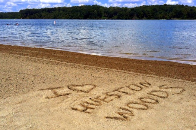 acton lake, hueston woods, ohio, beach