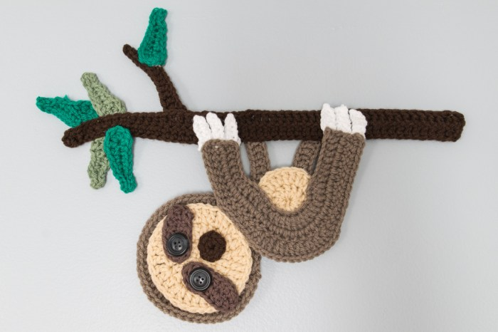 sloth knit crochet pattern