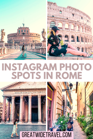 Top Instagram Photo Spots In Rome, Italy including Trevi Fountain, Piazza Navona, Trastevere neighborhood and more