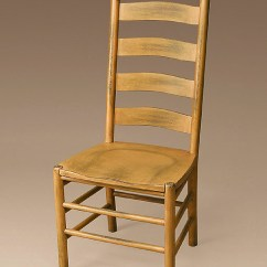 Unfinished Ladder Back Chairs Tan Leather Winslow Shaker Ladderback Armchair