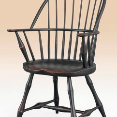 Windsor Chair With Arms Folding Hanging Rack Historical Connecticut Sack Back Armchair Bamboo Turnings Image