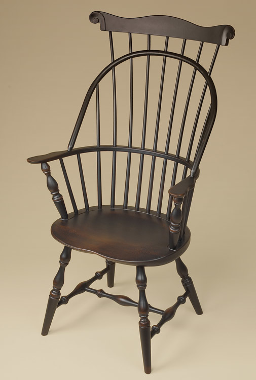 comb back windsor chair hickory stool sack-back with armchair