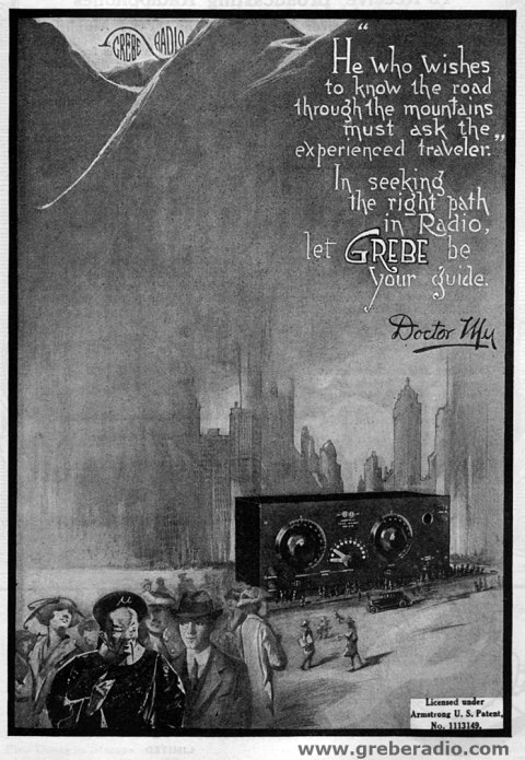 April 1922 QST Grebe CR-5 Radio Advertisement