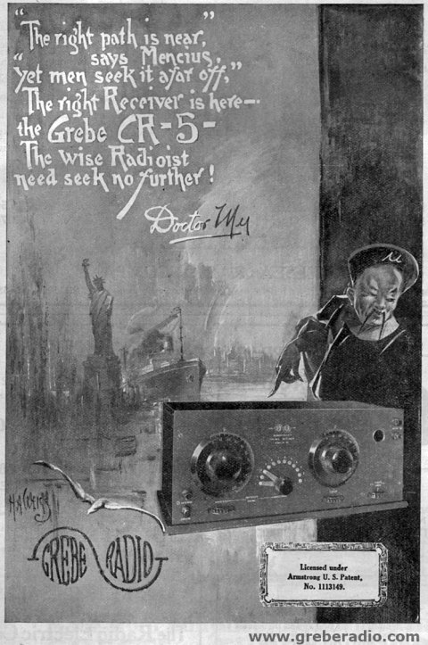 MAy 1922 QST Grebe CR-5 Radio Advertisement
