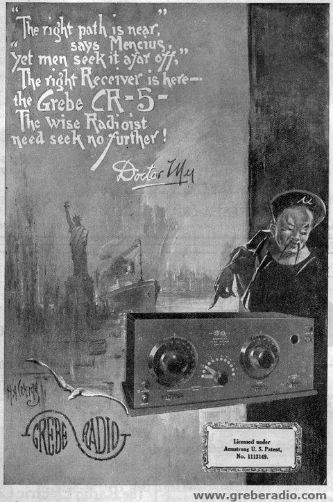 MAy 1922 QST Grebe CR-5 Radio Advertisement