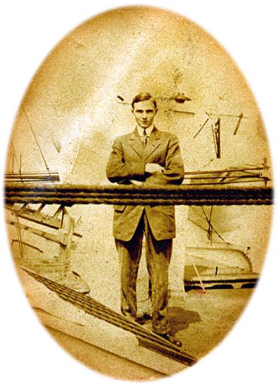 A. H. Grebe on deck the S. S. Saranac