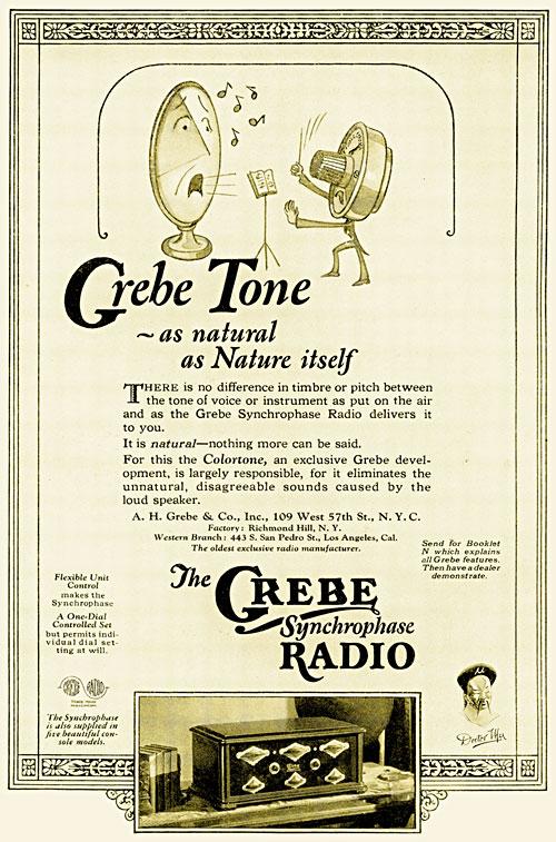 Grebe Tone print advertisement