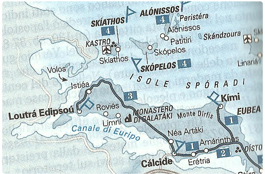 Mappa Sporadi  Cartina isole Sporadi