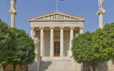 Tres edificios de Atenas; Arte, letras y ciencias