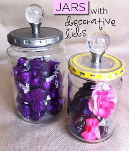 jars with decorative lids