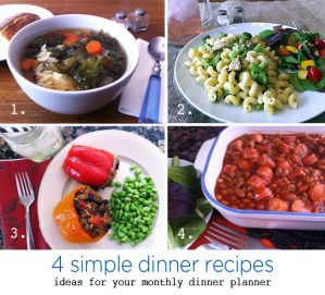 simple recipes | for your monthly dinner menu