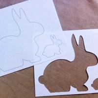 hoppin' along | free bunny stencil