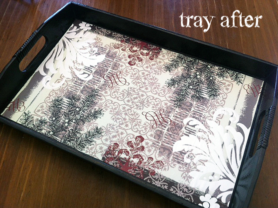 tray after