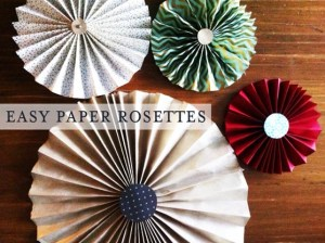 easy paper rosettes | another diy project