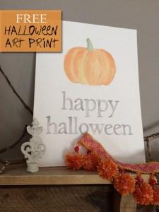 happy halloween   free art print