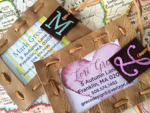 leather luggage tag DIY