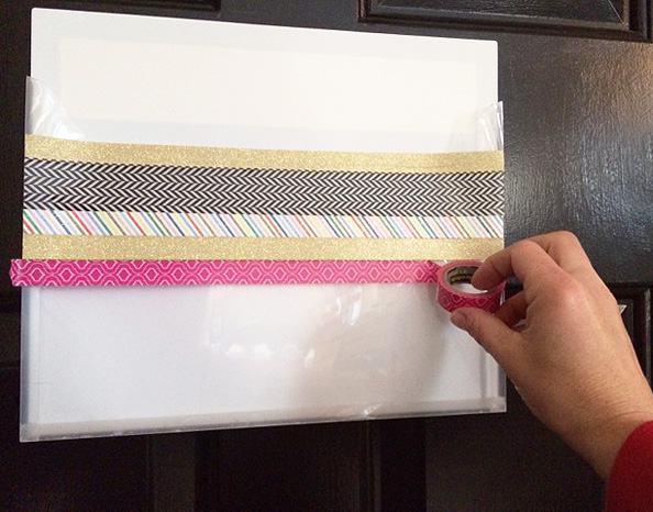 washi tape embellishing