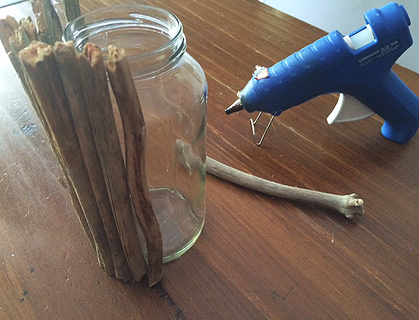 twig vase glueing