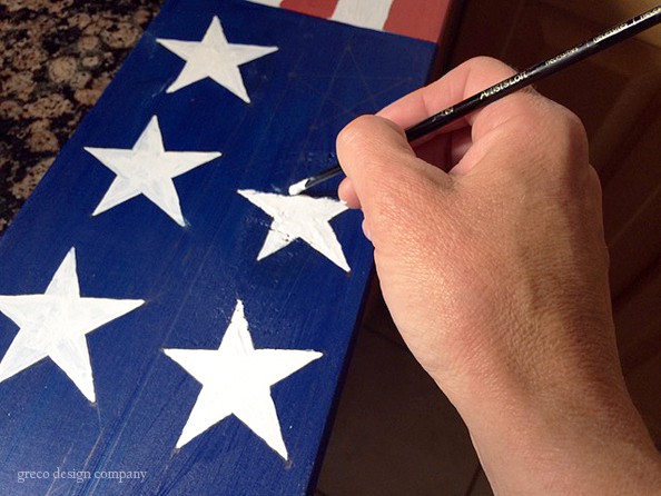 patriotic board_paint stars