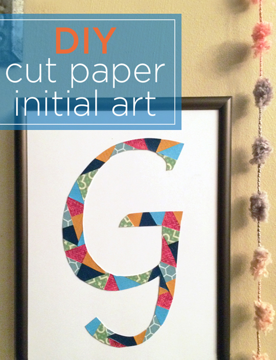cut paper initial_hanging end