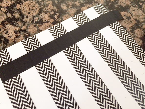 notebook cover black tape