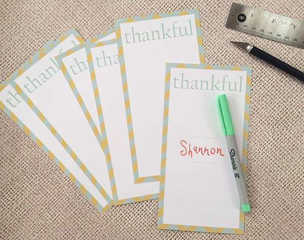 Thanksgiving place cards printed