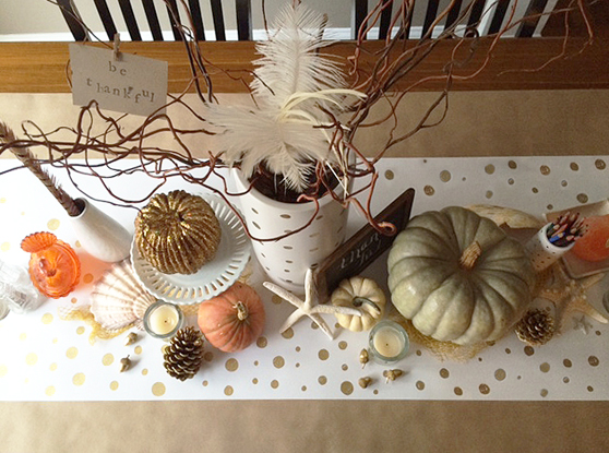 Thanksgiving table aerial