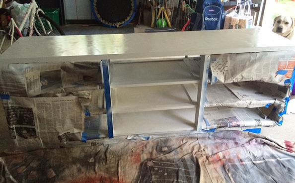 mid century dresser_paint
