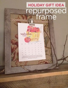 DIY repurposed frame | holiday gift idea