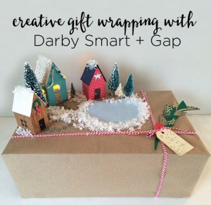 creative gift wrapping with Darby Smart + Gap