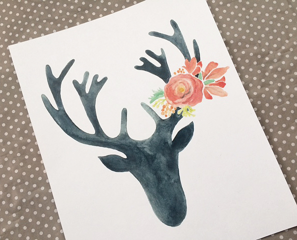 stag prints_black red