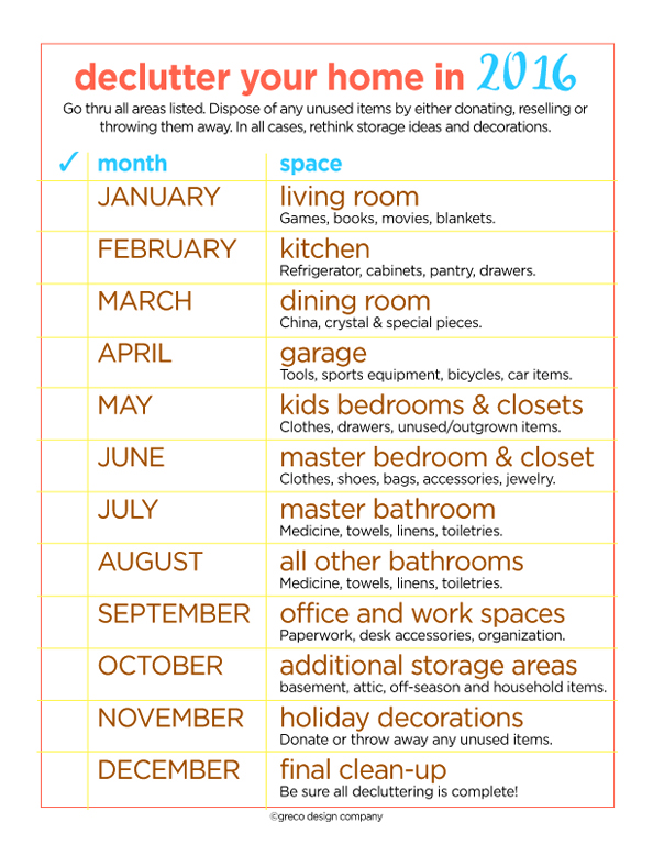 declutter worksheet